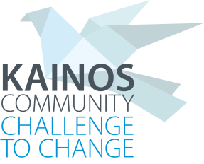 Kainos Community Challenge to Change with blue origami bird