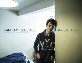 Langley House Trust Annual Review 2013 - 2014 front cover