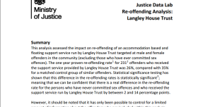 Justice Data Lab results show impact on reoffending