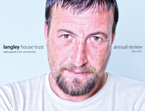 Langley House Trust Annual Review front cover - 2012-2013