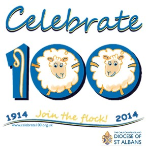 St Albans 100 Centenary logo - 1914-2014 - Join the flock