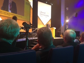 Main speech hall at Lib Dem Party Conference 2014
