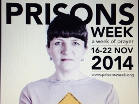 Woman against grey background - Prisons Week - a week of prayer 16-22 November 2014