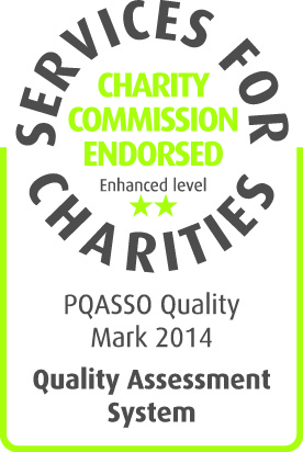 Services for Charities - Charity Commission Endorsed Badge - for PQASSO Quality Mark 2014.
