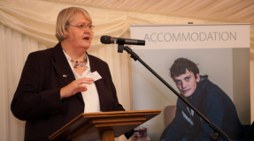 Tracy Wild, CEO of Langley House Trust, speaking at Langley Annual Review Launch 2014.