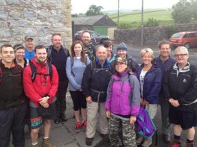 Yorkshire 3 Peaks 2015 Team - before the start of the walk