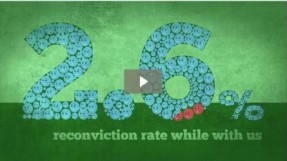 2.6 percent reconviction rate while with us