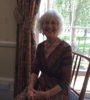 Diana Dishley, retired magistrate and Langley supporter, sitting within the Magistrates Association building