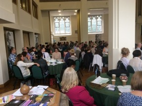 Picture of attendees at the Staff Conference 2016 - individuals are sat at round tables