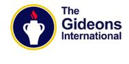 Gideons international logo - the words 'Gideons International' sat next to a picture of a light coming out of a small jar