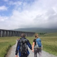 Yorkshire 3 Peaks 2015 - 2 walkers walking alongside each other