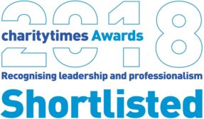 Image of Charity Times Award 2018 Shortlist Logo. The Charity Times Award recognises leadership and professionalism in the charity sector.